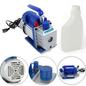 3cfm Rotary Vane Vacuum Pump Single Stage Hvac 1 4hp Air Conditio