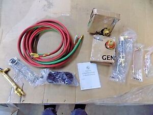 Oxygen And Acetylene Torch Kit 1 2 Cutting Cap 3 16 Welding Cap 64629124