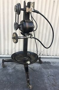 Vintage Wyco Flex Shaft Industrial Machine Buffer 1 3hp 115v Multiple Speeds