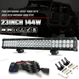 23inch Led Light Bar Combo 4 Cree Pods Offroad Suv 4wd Ford Jeep Utv 24 22