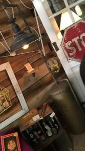 Steampunk Industrial Antique Boiler Tank Lamp Light Repurposed Furniture