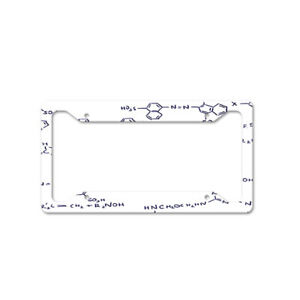 Chemistry Code Auto Car License Plate Frame Tag Holder 4 Hole