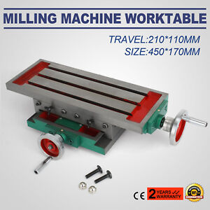 17 7 6 7inch Milling Machine Cross Slide Worktable Vise Compound Working Table