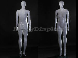 Fiberglass White Abstract Egg Head Mannequin Display Dress Form Mz zara4eg