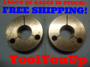 1 03 48 Ns 3 Thread Ring Gages Go No Go P d s 1 0165 1 0128 Tool Tooling