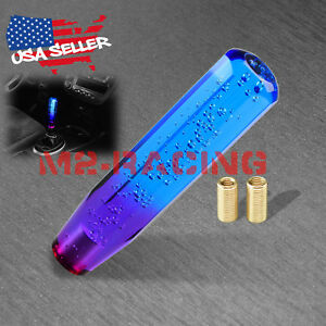 Shift Knob Stick Crystal Transparent Bubble Purple Blue Throw Gear Shifter 20cm