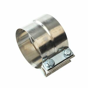 2 25 Stainless Steel Lap Joint Exhaust Clamp For Catback Muffler Downpipe T304