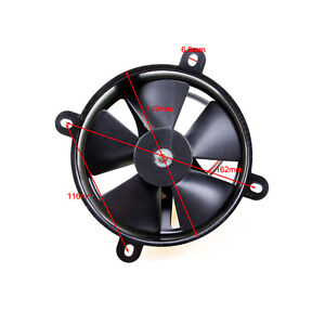 Universal Kit Black 6 Inch Slim Fan Push Pull Electric Radiator Cooling 12v