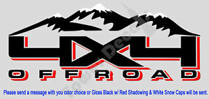 4x4 Snow Capped Mountains Truck Bed Side Decal Fits Nissan Titan Frontier Xterra