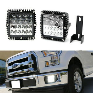 100w Combination Beam Hyperspot Led Foglamps W Mount Bracket For 15 17 Ford F150