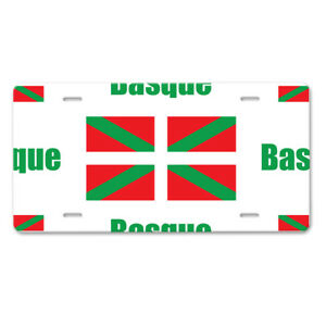 Basque Country Flag Car Aluminum License Plate