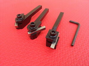 3pc Hss Square Tool Bit Holders For Lathe Cutting 10mm Shanks Metal Turning