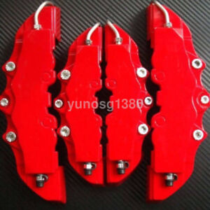 4pcs Red 3d Abs Style Front Rear Universal Disc Car Brake Caliper Cover