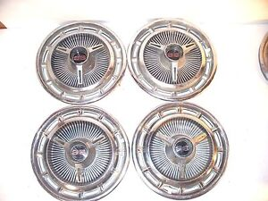 Vintage 1960 S 14 Chevy Ss Wheel Covers Hub Caps Set Of 4 Good Condition L5