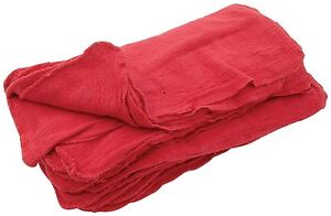 200 New Made In The Usa Mechanics Shop Rags Towels Red Large Jumbo 13x14