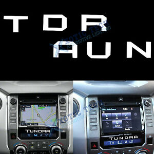 White Radio Center Insert Letters Stickers Decal For Toyota Tundra 2014 2019 New