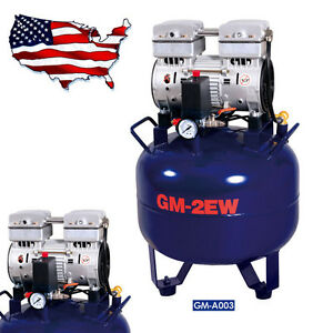 32l Portable Dental Medical Air Compressor Quiet Oil Free Oilless Quietfor Chair