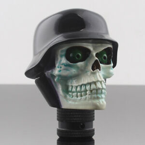 Universal Car Manual Stick Gear Shift Knob Lever Shifter Skull Head Hat Kits