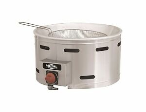 New 13 Round Lp Gas Fryer 7 Lts ideal For Funnel Cakes Metal Supreme Tfgc