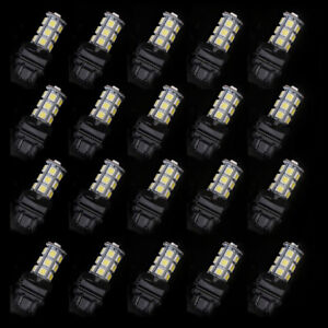 20pcs 3157 18smd 5050 Reverse Brake Stop Turn Tail Back Up Led Light Bulb White