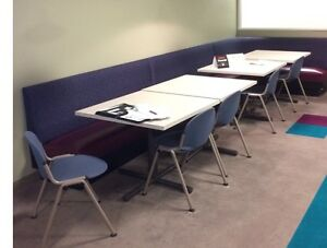 Lot Of Qualtiy Wood Restaurant Booths Tables Chairs Euc Classy Seating Package