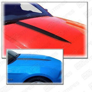 Ford Mustang 2010 2012 Hood Cowl Side Spear Stripes Decals Pair Choose Color