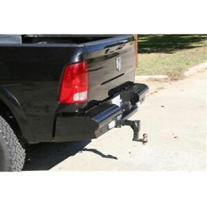 Fab Fours Dr03 T1050 1 Rear Ranch Bumper Black For 2003 2009 Dodge 2500 5500hd