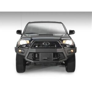 Fab Fours Tt12 B1652 1 Winch Bumper W Pre Runner Guard Black For 12 15 Tacoma