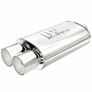 Magnaflow 14805 Universal Muffler With Dual Tip 2 25 3 5 Inlet outlet