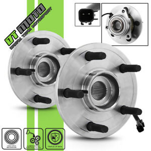 Pair 2 Front Wheel Hub Bearing Assembly For 2006 2008 Dodge Ram 1500 2wd 4wd