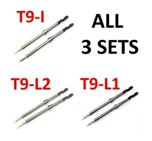 Hakko Fm 2023 Tips All 3 Sets T9 i t9 l1 t9 l2 4 Use With Fm 202 fm 203 fm 206