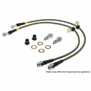 Stoptech 950 37013 Front Stainless Steel Braided Brake Hose Kit