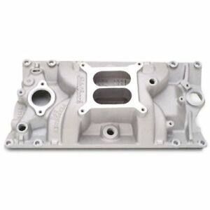 Edelbrock 7116 Performer Rpm Vortec Intake Manifold Satin For S B Chevy 262 400