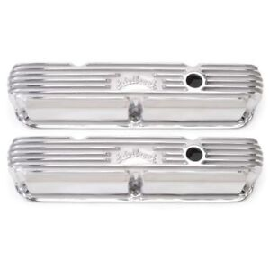 Edelbrock 4176 Classic Valve Covers 3 3 4 Polished For Sb Chrysler 318 360 La