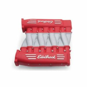 Edelbrock 7141 Victor Series Cross Ram Ls3 Manifold Red For Chevy Ls3 V8