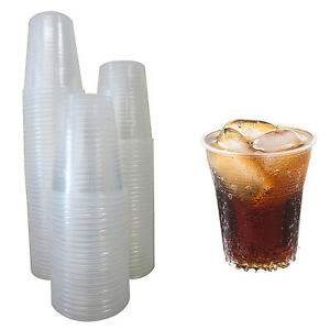100 Plastic Cups 5 Oz Clear Glasses Disposable Office Dispenser Party Wedding