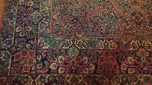 Antique Sarouk Rug 9x12 Persian 1910 S Hand Made Or Best Offer