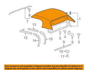 Gm Oem Convertible Soft Top Top Cover 19152957