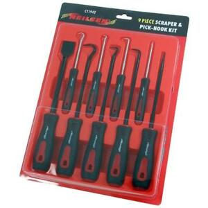 9 Piece Scraper And Pick Tool Set Ideal For Gasket Cleaning Hose Removal