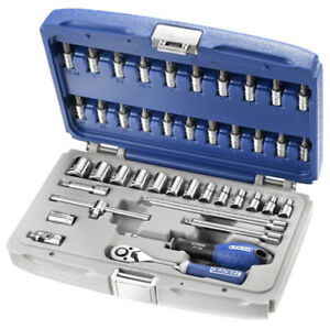 Socket Set 1 4 42 Pieces Includes Ratchet Extensions Bit Sockets Facom Expert