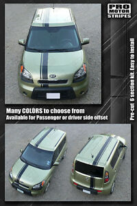 For Kia Soul Over Top Offset Sport Stripes Decals 2008 2009 2010 2011 Pro Motor