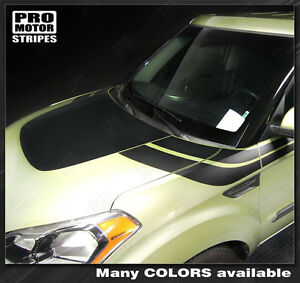 For Kia Soul Hood And Side Accent Sport Stripes Decals 2008 2009 2010 2011