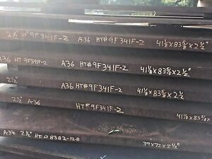 2 5 A 36 Steel Plate A36 Steel Flat Iron 2 1 2 X 41 1 8 X 83 5 8 Hot Rolled