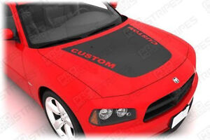Daytona Style Hood Graphic Decal For Dodge Charger 2006 2007 2008 2009 2010
