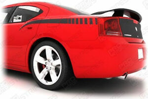 Dodge Charger Rear Quarter Side Stripes Decals 2006 2007 2008 2009 2010 Pro Moto