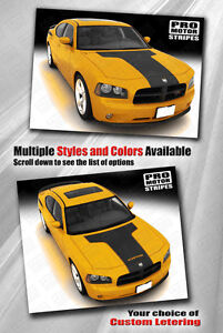 Dodge Charger Hood Accent T stripe Graphic Decal 2006 2007 2008 2009 2010
