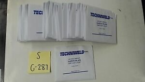 Techniweld 4 1 2x5 1 4 Polycarbonate Safety Plate Clear Lot Of 48