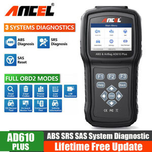 Auto Obd2 Scanner Abs Sas Srs Airbag Data Reset Engine Diagnostic Scan Tool