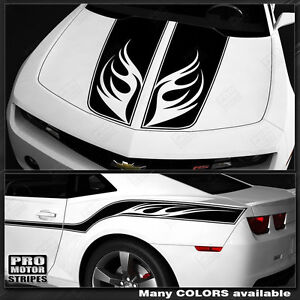 Chevrolet Camaro Racing Wings Top And Side Stripes Decals 2014 2015 Pro Motor