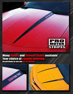 Chevrolet Camaro Hood Cowl Side Spear Stripes Decals 2010 2011 2012 2013